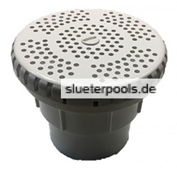 Flat suction unit complete white 50mm